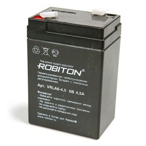 Аккумулятор Robiton VRLA 6V-4.5 Ah Security