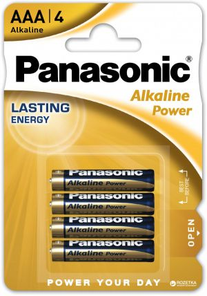 Батарейки PANASONIC LR03 Alkaline Power SR04 (48/240)