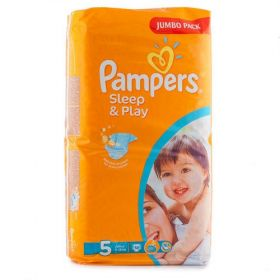 PAMPERS 42942 Подгузники Sleep & Play Junior (11-18 кг) Джамбо Упаковка 58 10%